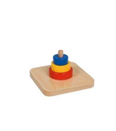 Dischi e cubi su piolo
